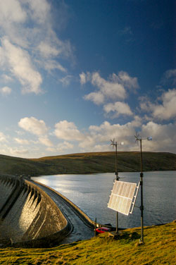 The Elan Valley Dam and Resevoir