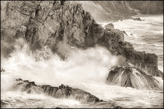 Rough Weather on the North Coast of Scotland